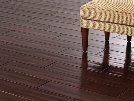 Distressed Hand Scraped Bamboo Pacific Mahogany (Satin Red) Flooring