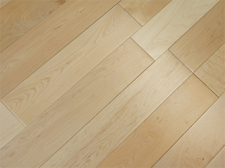 Solid Hardwood Maple Floor Natural